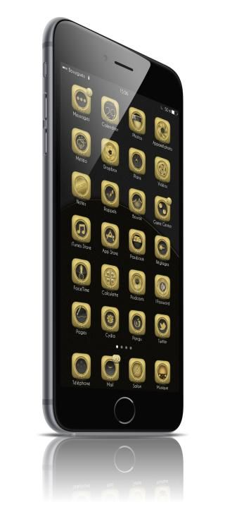 Download Golden iOS8 i6Plus Wallpapers 1.0
