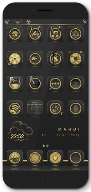 Download Golden MagicDots iOS7 1.0