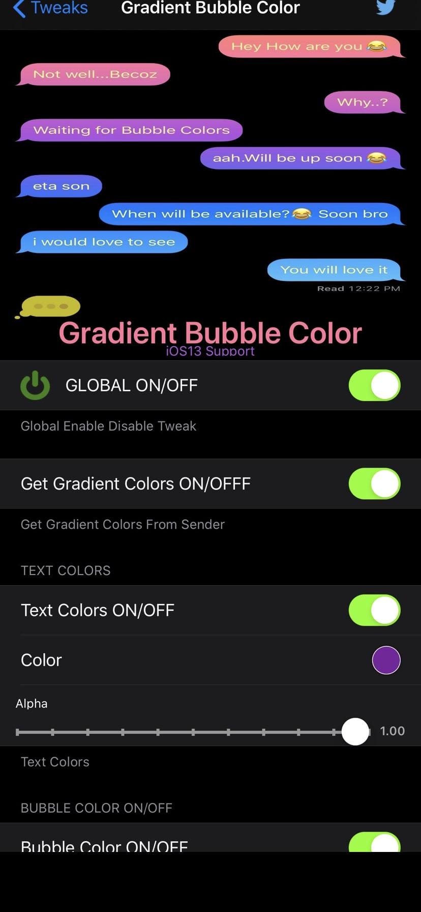 Download GradientBubbleColor 1.0
