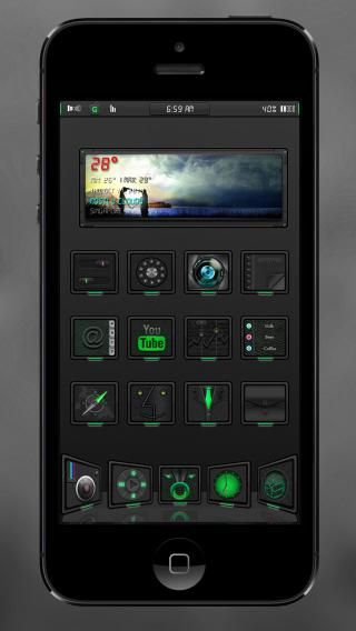 Download GraN1gHt iOS8 Green 1.0