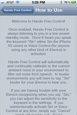 Download Hands-Free Control 1.0-5