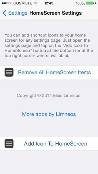 Download HomeScreen Settings (iOS8 & 7) 2.1-1