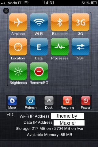 Download iOS 5 SBSettings Blue 1.0