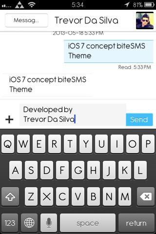 Download iOS 7 Concept BiteSMS Theme 1.2