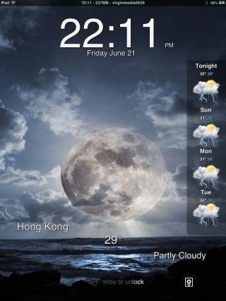 Download iOS7 Weather LS iPad SD 1.0.1
