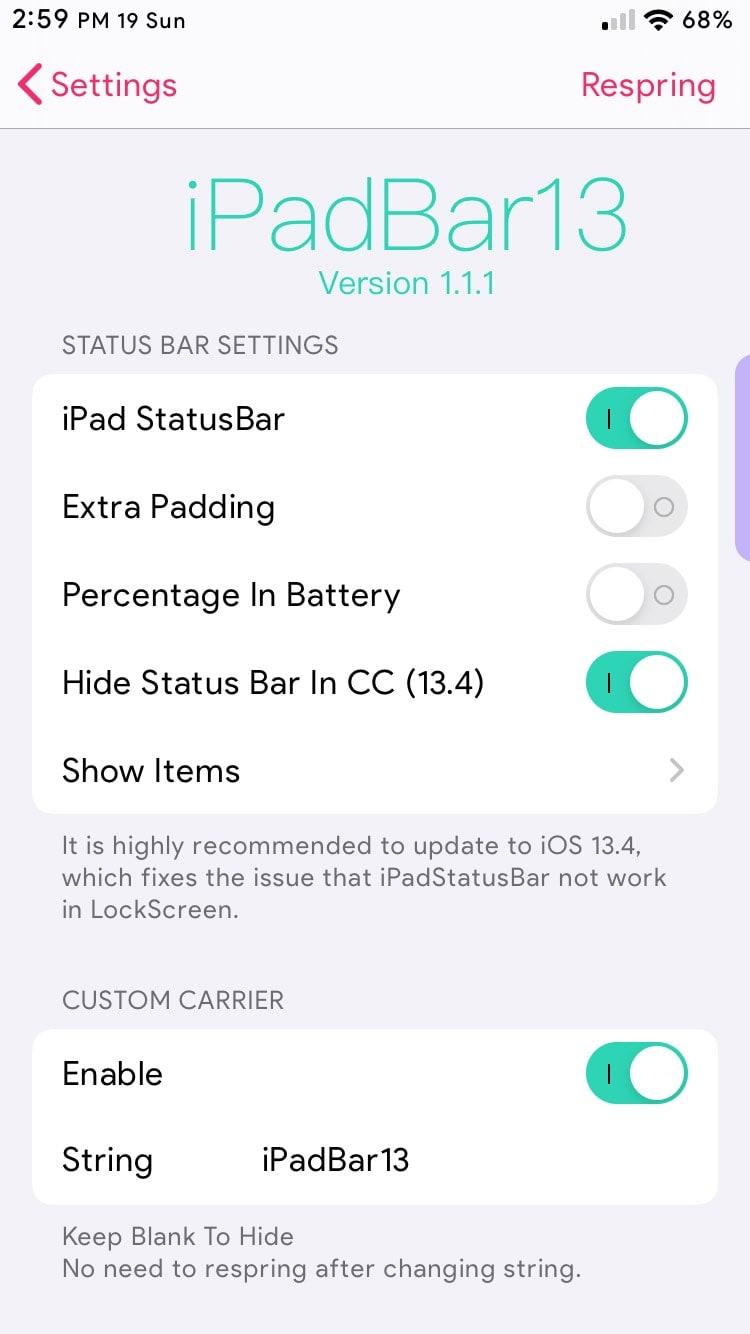 Download iPadBar13 2.0.0