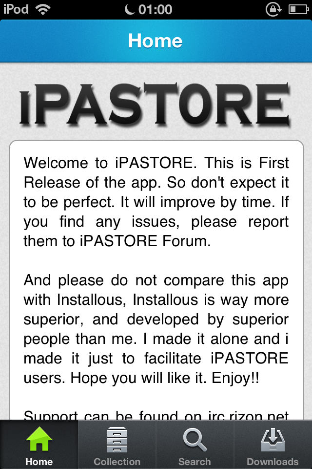 Download iPASTORE 1.0