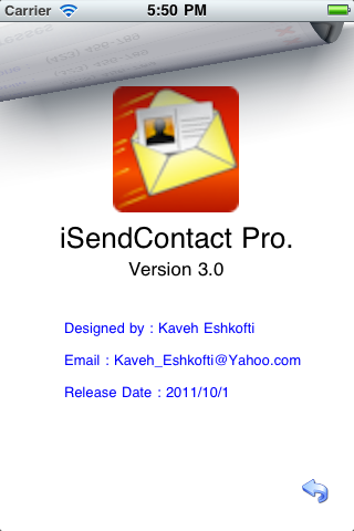Download iSendContact Pro. 5.0