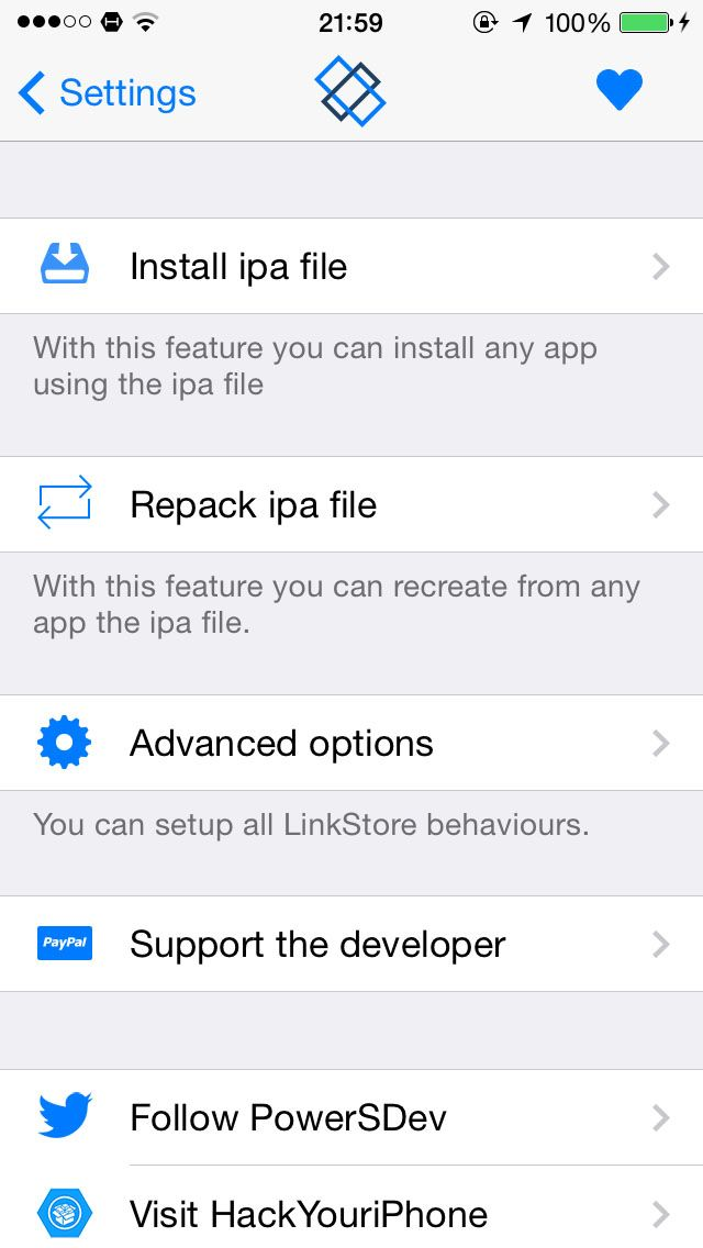 Download LinkStore for iOS 7 1.1-2