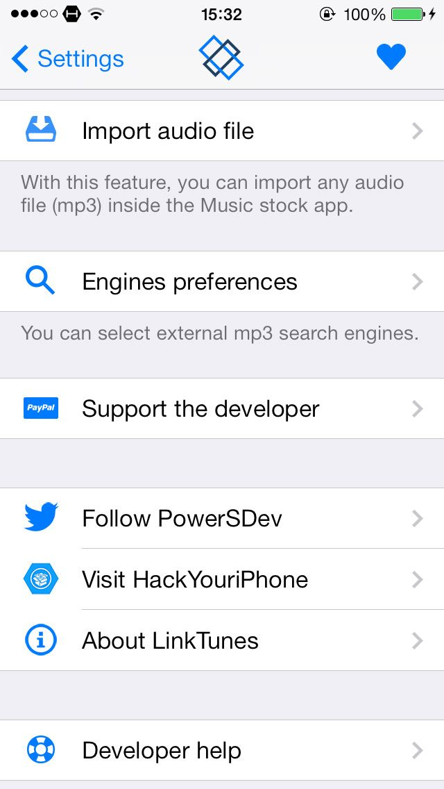 Download LinkTunes for iOS 7 1.4.3