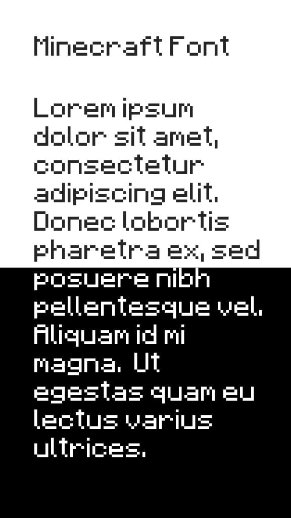 Download Minecraft Font  1.0