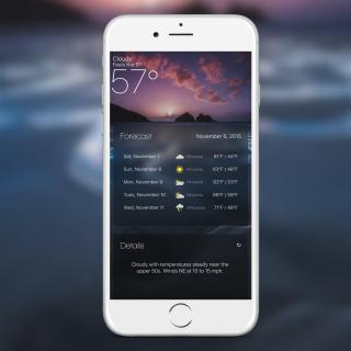 Download miWeather 9 Cydget 1.1