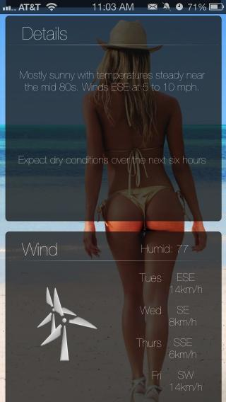 Download miWeather iOS7 Babes 1.1