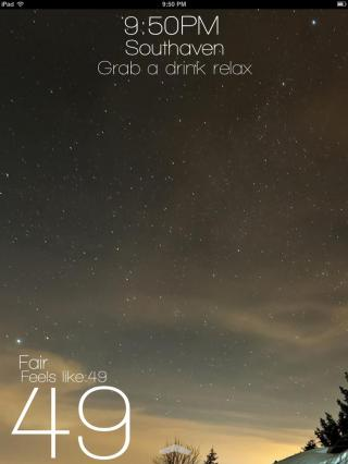 Download miWeather iPad Cydget 1.0a