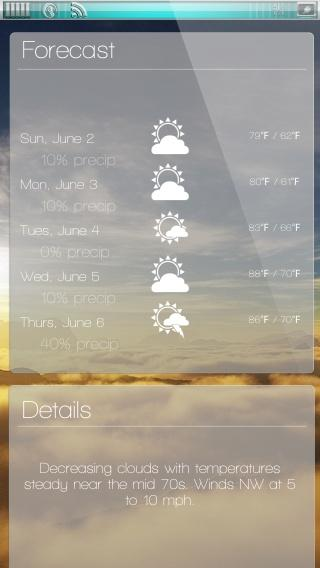 Download miWeather Lockscreen 1.4