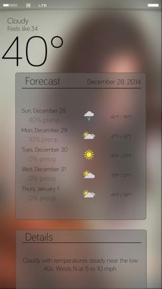 Download miWeather V2 iOS8 Cydget 1.2