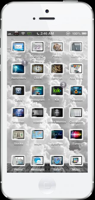 Download Nephelai HD 5 Theme Black-White 1.0