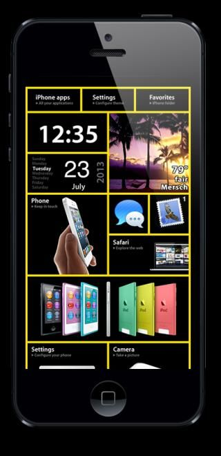 Download NewOS Dark i5 iOS8 1.0
