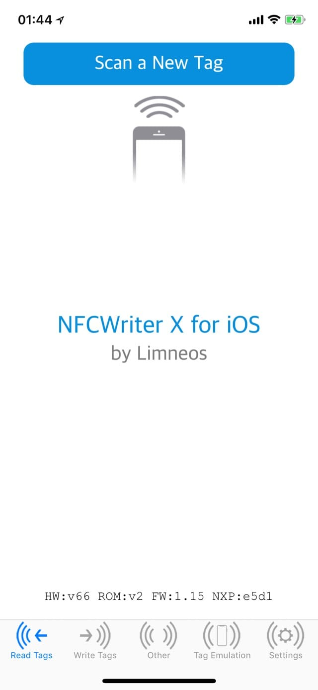 Download NFCWriter XS for iOS 11/12 2.0-8k