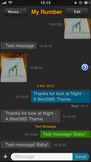 Download Night biteSMS Theme 1.4