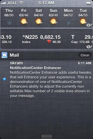 Download NotificationCenter Enhancer 1.0.0-1