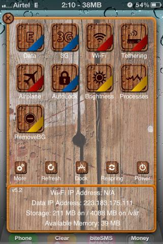Download Old Wood HD SBSettings Theme 1.2