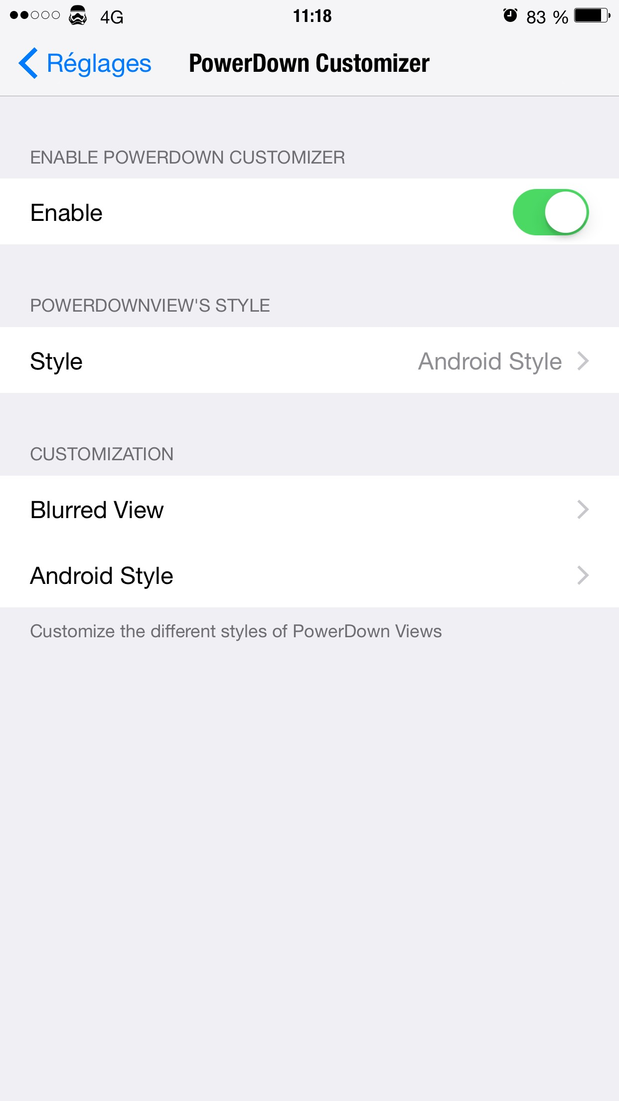 Download PowerDown Customizer 1.1k