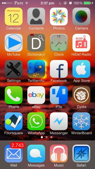 Download Pure IOS7 Pro Icons 1.0