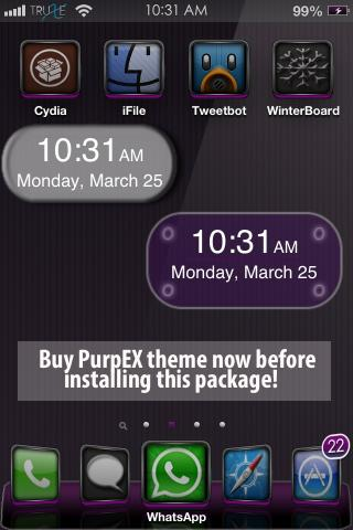 Download PurpEX Clock iWidget 1.0
