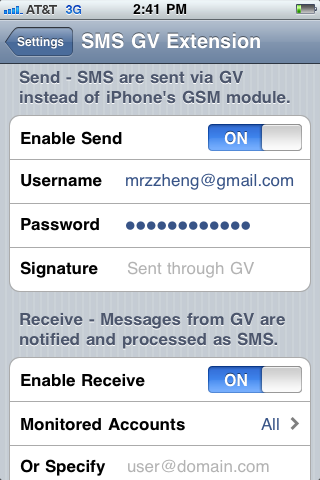 Download SMS GV Extension 1.3.6