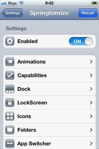 Download Springtomize 2  - iOS 5+ 1.4.5-1