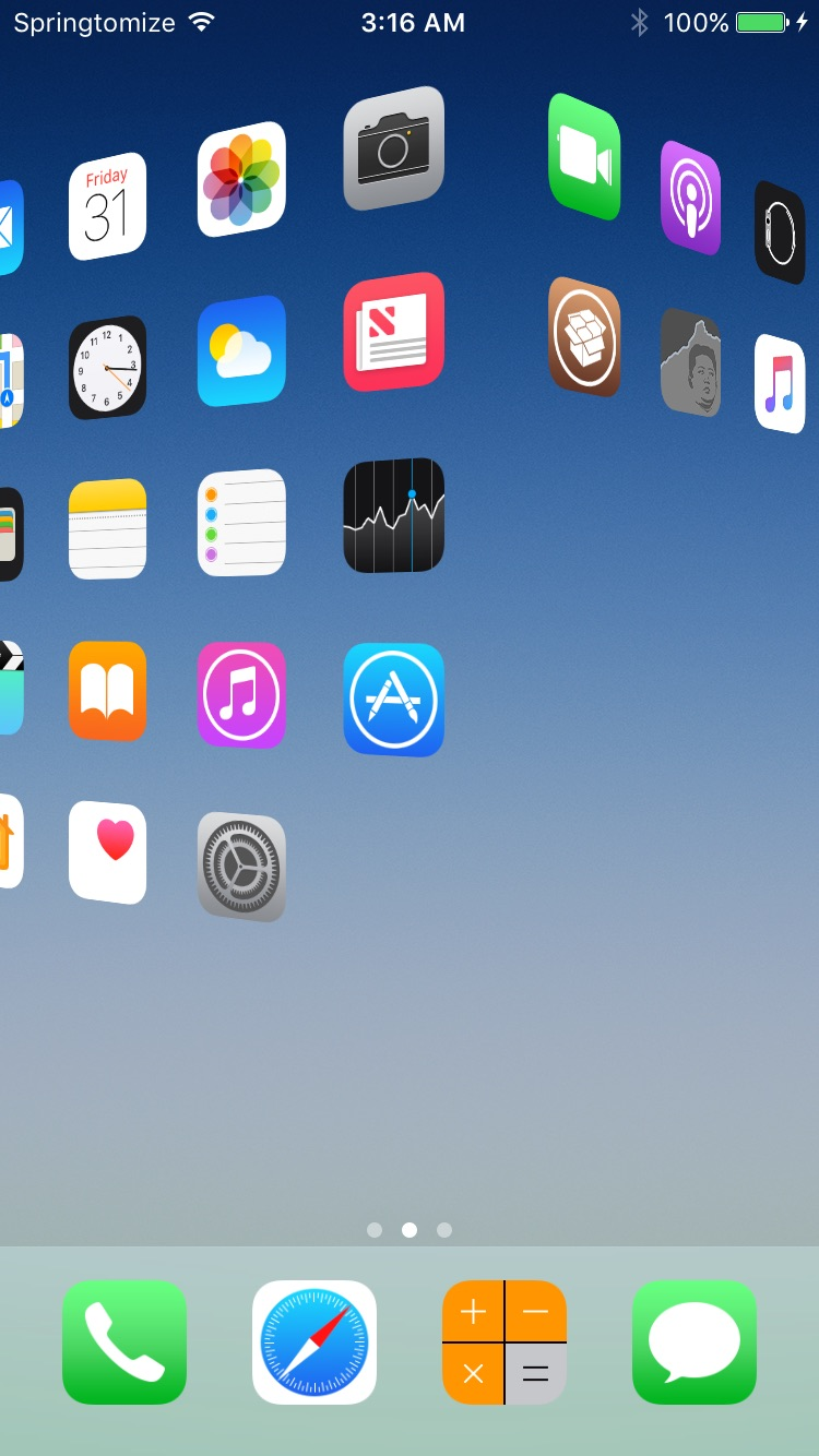 Download Springtomize 4 (iOS 10) 3