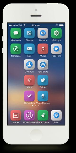 Download The7 HD ios7 iconomatic 2.0