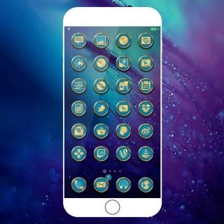 Download UltimateS6 iOS10 Blue 1.0