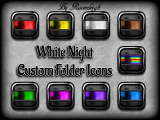 Download White Night Custom Folder Icons 1.0